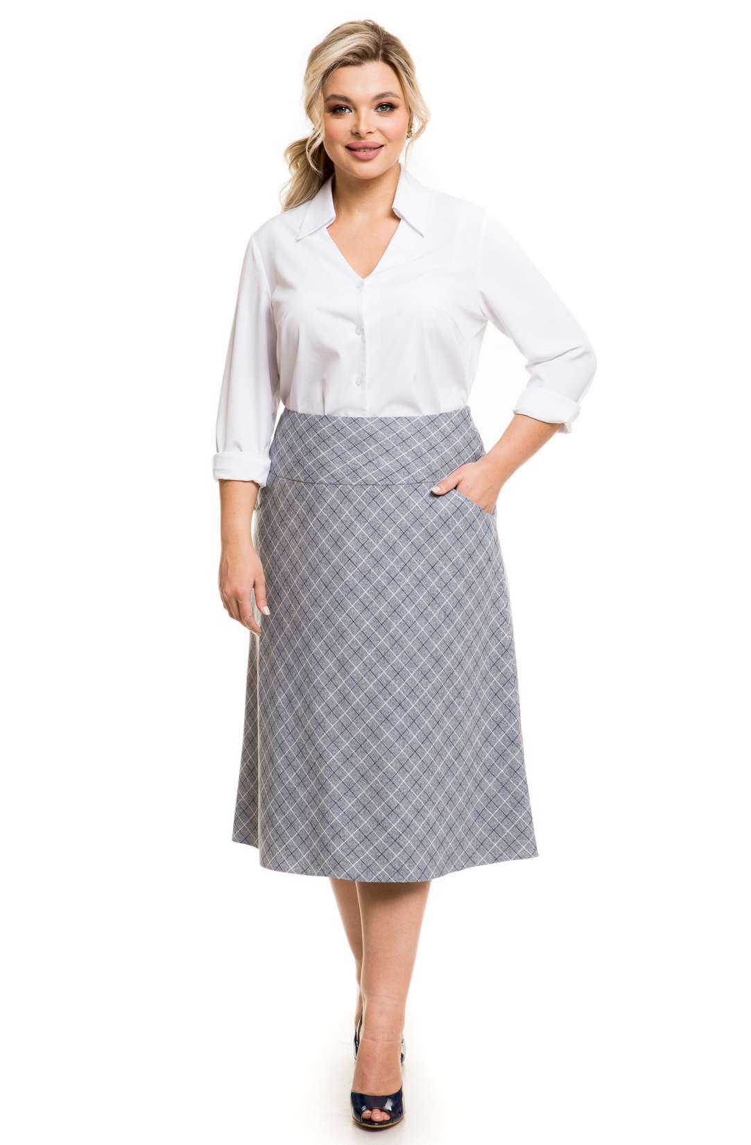 Модная расклешенная юбка Venusita