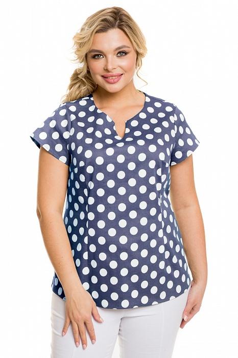 Модная блузка в горох Новита