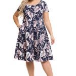 Летнее платье с юбкой-солнце Новита